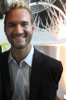 Nick Vujicic - Nick Vujicic - an Australian preacher and motivational speaker born with Tetra-amelia syndrom.