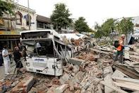 earthquake - Earthquake is a natural disaster. This picture is a sample how dangerous the earthquake. Let us be concern on our nature. Let us pray that all the people who suffered from this disaster can move on.
