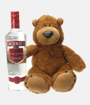 Vodka - Teddy Bear holding the Vodka