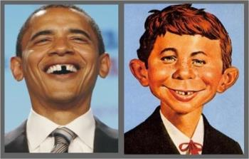 Obama and imaginary son - Family resemblance