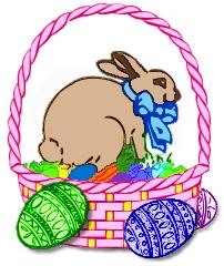 bunny,basket - Happy Easter