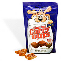 Canine Carry Outs - Chewy doggy treats called canine carry outs.