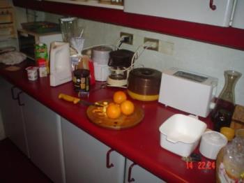 Kitchen - My kitchen. Here I´m preparing an orange and carrot jam.