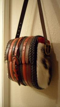 upcycled belt bag - leather belt bag upcycled