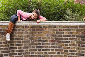 climb over the wall - why would you do such thing to a friend's house?