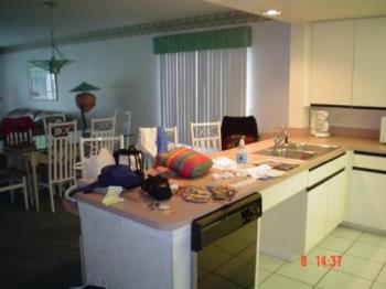 Resort in Orlando - I took a picture of part of the kitchen and the dining room of a resort in Orlando, Florida.