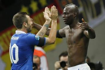 Will these two bad boys celebrate again tonight? W - Will these two bad boys celebrate again tonight? Will Balotelli score?