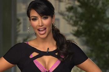 Kim Kardashian - Kim Kardashian in workout clothes.