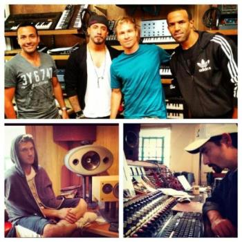 Backstreet Boys - Photo of BSB with Craig David at the recording of their new album.