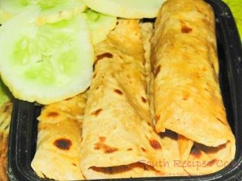 Hot Chapati with milk - Night reamining chapati with tea