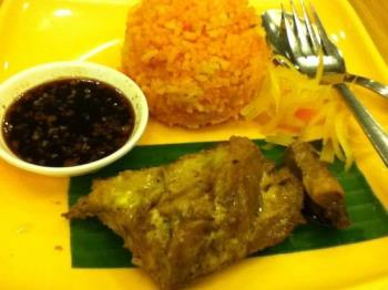 Chicken inasal  - Chicken Inasal with Java rice and soy sauce