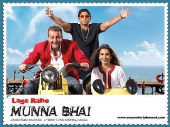 Lage Raho Munna Bhai - Lage Raho Munna Bhai, starring Sanjay Dutt, Arshad Warsi and Vidya Balan