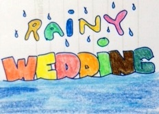 rainy wedding - weddings are joyous times but usually could be destroyed by a weather calamity like hard rains. But, who says we shouldn't adjust? The Wedding must go on! hehehe..