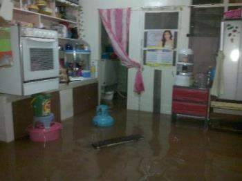 Flood - The water inside my house.