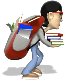 Students should not be made to carry so many books - Students should not be made to carry so many books to school