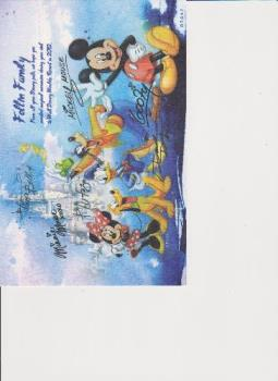 Disney Thank you card - A card we received from Disney World after our vacation