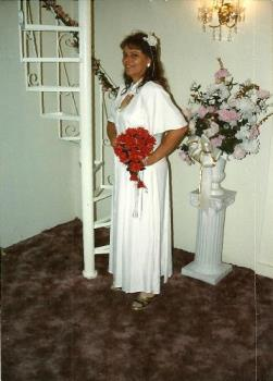 my wedding dress on 5th marriage in vegas - this is the wedding dress if it will let me upload it. this was vegas