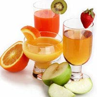 Fruits and Juice - Tropical Fruits and Fruit Juice. Yum.