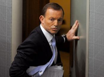 The Mad Monk - Tony Abbott being ejected from Parliament - or was it Tony Abbott watching his wife speak in his defence?