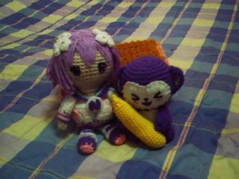Crocheted Plushies - I crochet dolls such as human dolls to animal dolls. Because crocheting is very flexible, almost anything can be made from it. I own these dolls by the way.