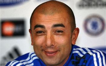 Di Matteo can still smile because Victor Moses sco - Di Matteo can still smile because Victor Moses scored a last minute winner.