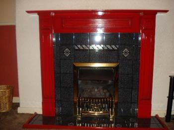 Sunglasses At The Ready! - Newly painted fireplace surround