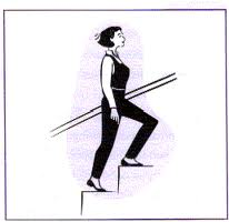 Climbing stairs - Climbing stairs is just one of the forms of exercise.