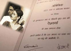 Ash wedding card - wedding card of Aishwarya and Abhi