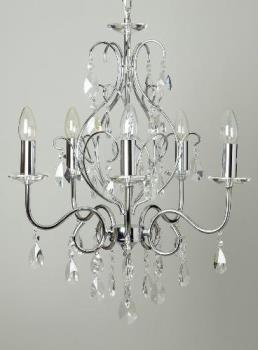 Chrome/Glass Chandelier Bought From BHS - Chrome/Glass Chandelier - Bargain!