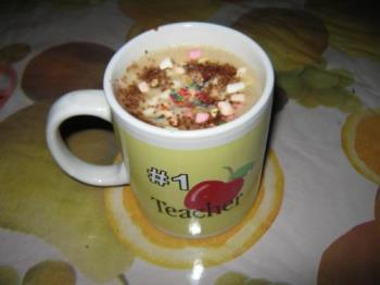 chocolate drink - This is my favorite cup with hot chocolate drink with mallows floating. My sister teased me using this with hot chocolate drink floating mallows, because I have no chocolate drink here.. Hot chocolate drink for cold weather.. fantastic.. just perfect!
