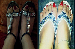 My Bejewelled Shoes - I am so happy with my two pairs of new bejewelled shoes!!!! Do you also own a pair?