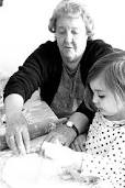 My grandauntie tought me bake and cook - I spent a lot of vacation time with my grandauntie and she tought me how to bake bread and cookies, we love to make desserts, and to cook christmas fish.