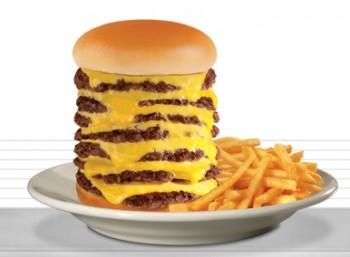 Steak 'n' Shake's 7 x7 burger - gross!