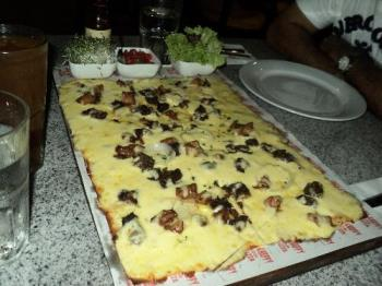 Pizza Perfect - A rectangular pizza with lots of cheese. Yummy!