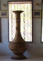 Goblet adorning our lounge - Hand made artifact.