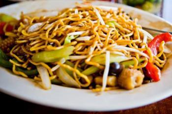 Stir Fried Vegetarian Noodles - Chinese stir fried vegetarian noodles