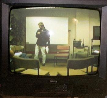 Reality TV? - No, no, this is a photo of an old video playing featuring me a good few years ago.
