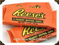 Reece's Peanut Butter Cups - Shows a couple of the candy.