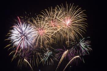 Tonight fireworks, Plymouth, UK
