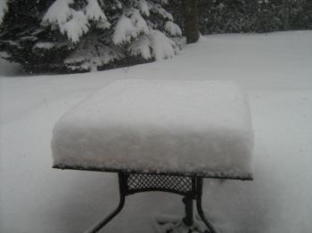 #marshmallow snow table,