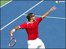 Roger Federer - This is the photo of Roger Federer, the world no.1 Tennis professional player. Federer has become a legend! Federer is expected by many (including Rod Laver, John McEnroe, and his childhood idol Boris Becker; see quotes) to go on and become one of the game's all time greats.