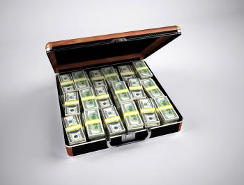 The case of my money that my financial adviser now carries around with him!!