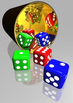 The outcome of the roll of the dice is not determined by luck. It merely mirrors what is really happening beneath the surface of the apparent good or bad luck.
