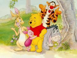 buddies - pooh,eeyore and gang