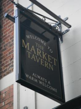 photo taken by me the new Market Tavern Sign