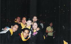 During college graduations - we still communicate on mails and sometimes phone calls. some of them are now in U.S or UAE, and others left here in the Philippines including me;)