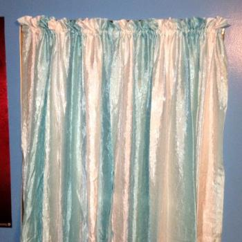 Curtains I hemmed and hung in my daughters room
