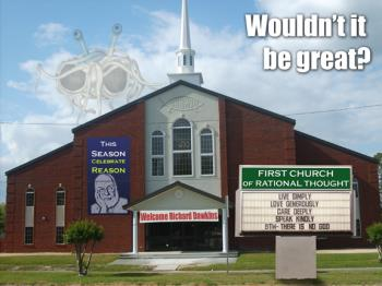 http://www.patheos.com/blogs/allergicpagan/2015/03/18/church-is-no-substitute-for-religion-part-1-the-sunday-assembly-and-religionless-church/