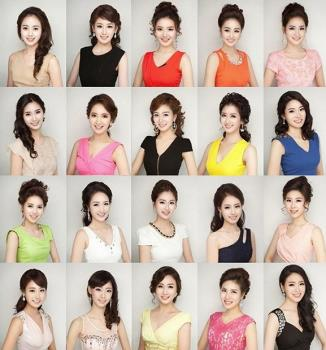 different girls? or the same one 16 times? https://petapixel.com/2013/04/25/portraits-of-miss-korea-2013-contestants-spark-discussion-on-plastic-surgery/