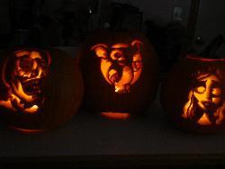 Our three pumpkins